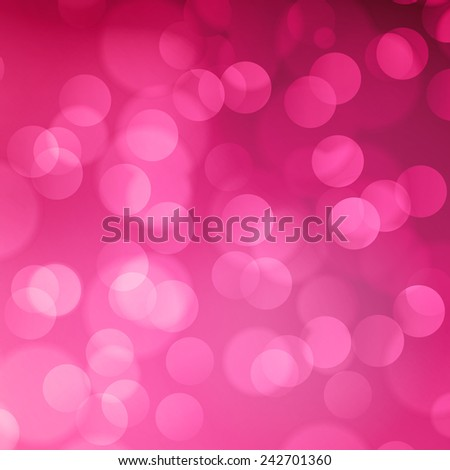 Pink blurred light background with bokeh effect - stock vector