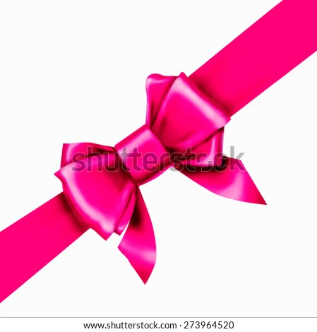 pink bow ribbon gift vector