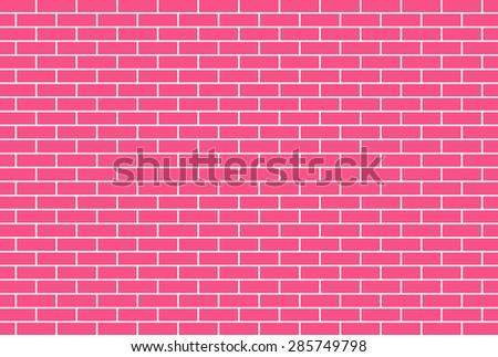 Pink brick wall background - Vector - stock vector