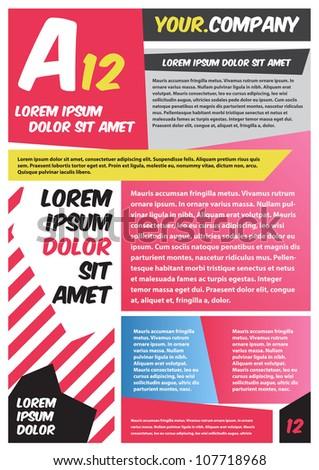 Pink Brochure design - stock vector