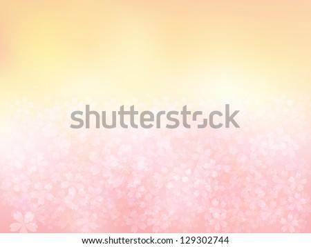 Pink cherry background - stock vector