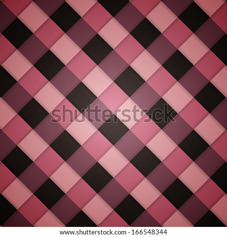 Pink clean vector retro checked diagonal seamless background pattern