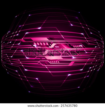 pink color Light Abstract Technology background for computer graphic website internet and business. circuit. label. card. - stock vector