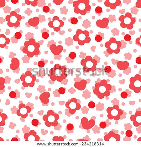 Pink floral background. Flowers seamless pattern. - stock vector