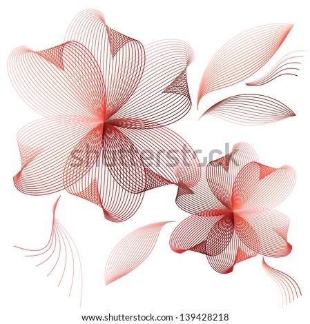 Pink flowers - stock vector