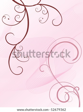 pink flowers backdrop - stock vector