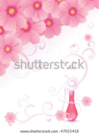 pink fragrance vector image - stock vector