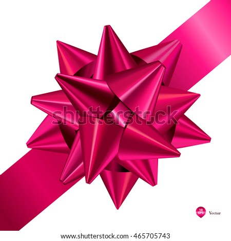 Pink gift bows ribbons detailed realistic stock vector 465705743 pink gift bows with ribbons detailed and realistic vector illustration negle Gallery
