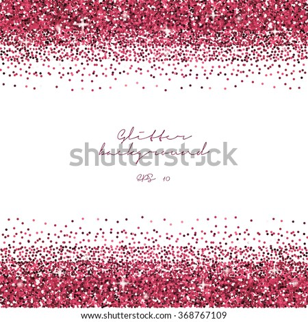 Pink Glitter Border Background Tinsel Shiny Stock Vector ...