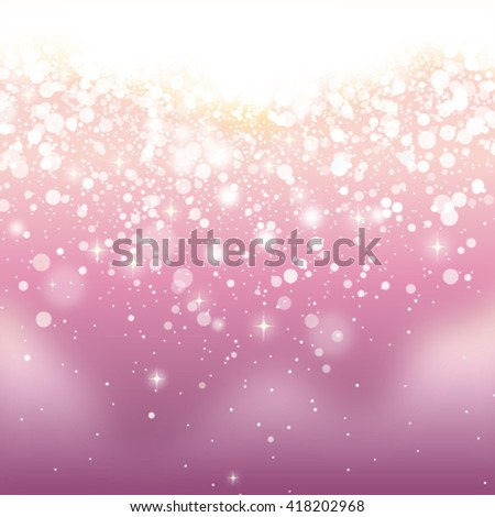 pink glittering background - stock vector