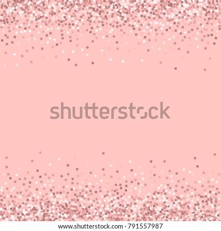 Gold And Pink Glitter Border Stock Images RoyaltyFree