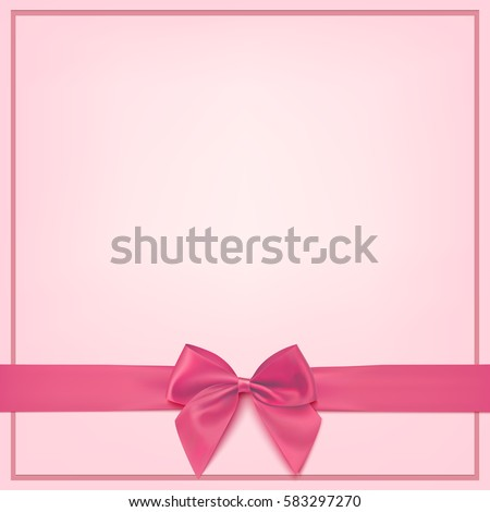 Blank Greeting Card Template Baby Girl Stock Vector