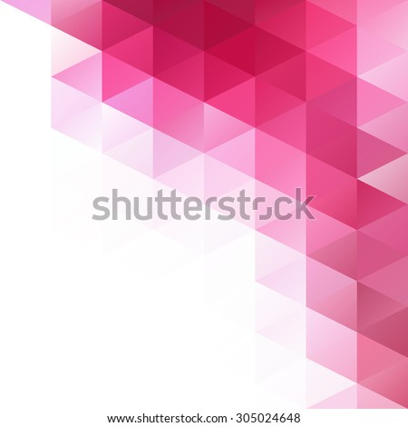 Pink Grid Mosaic Background, Creative Design Templates - stock vector