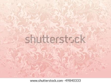 Pink Grunge Vintage pattern, vector - stock vector