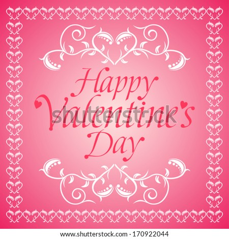 Pink Happy Valentines day background card