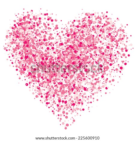 Pink heart of the spray. Eps8. CMYK. Global colors. Gradients free. - stock vector