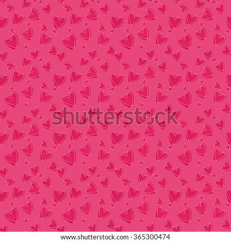 Pink hearts. - stock vector