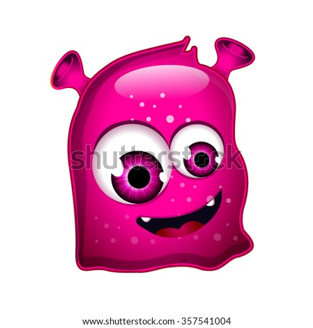 Pink Jelly Monster - stock vector