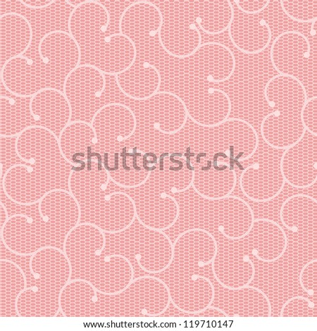 Pink lace pattern with spirals. Objects grouped and named in English. No mesh, gradient, transparency used.