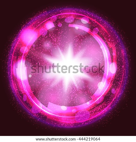 pink light burst explosion background, with rays and transparent lines. vector - stock vector