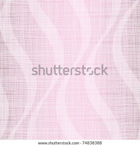 Pink linen fabric with waves - stock vector