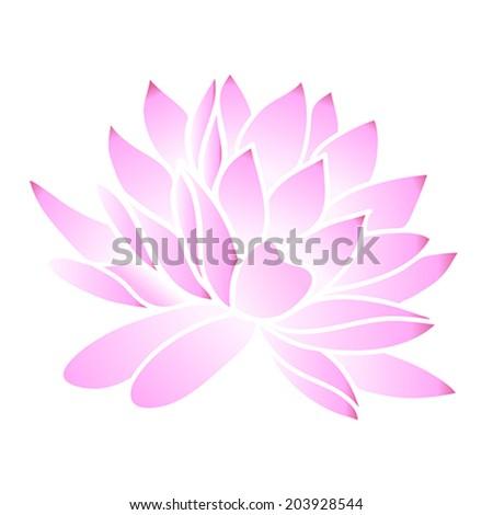 Pink lotus. Vector illustration - stock vector