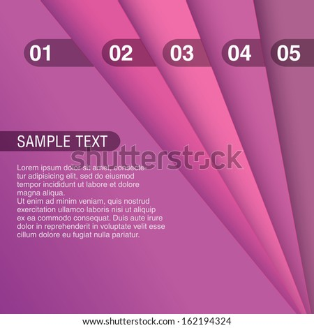 Pink magenta color scale edition Abstract geometric scalable eps10 composition of 3d sheets as a paper background, minimal layout design for universal use  - stock vector