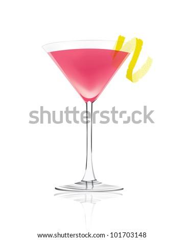 Pink Martini - stock vector