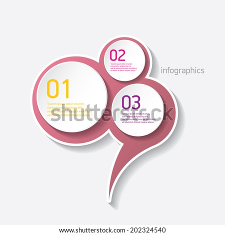 pink modern progress paper banners / can be used for infographics / numbered banners / horizontal cutout lines / graphic or website layout vector - stock vector
