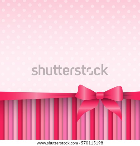 Pink Pattern Abstract Background Valentine Day Gift Card Holiday Flat Vector Illustration
