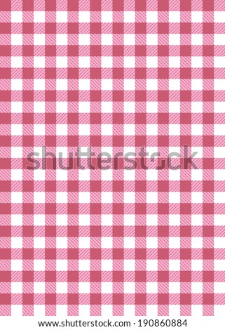 pink pattern check - stock vector