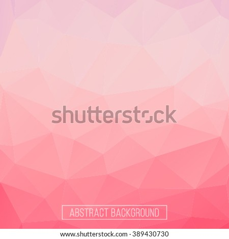 Pink polygonal abstract background. Design element. Polygon wallpaper.  Polygon pattern. Hexagon pattern. Triangle pattern - stock vector