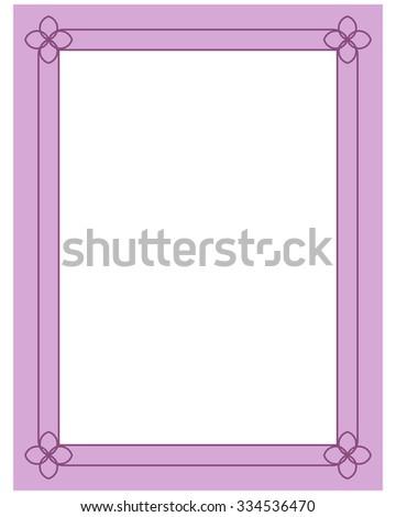 Pink Purple Border Frame Deco Vector Stock Vector Royalty Free