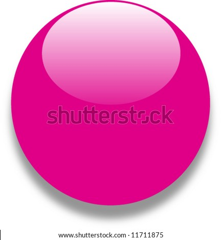 Pink red glass web button - stock vector