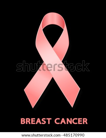 Breast cancer awareness black background