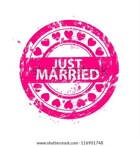 Just married rubber stamp Stock Photos, Images, & Pictures ...