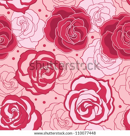 Pink Rose pattern - stock vector