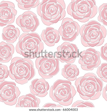 pink roses (background) - stock vector