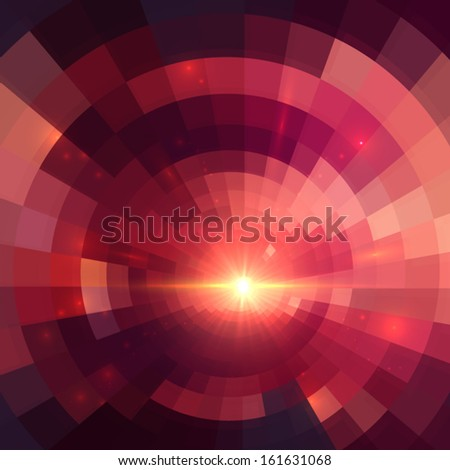 Pink shining lights abstract vector background - stock vector