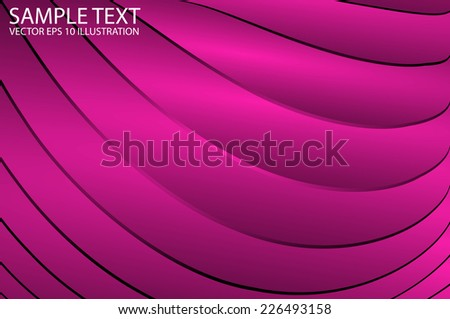 Pink shiny background design vector template - Vector pink reflective background illustration - stock vector