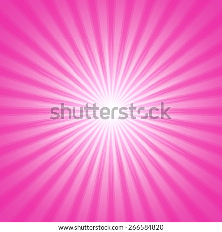 Pink shiny backgrounds for design. Abstract retro vintage background of the shining sun rays. Sun. Sunburst, light ray, sunset vector illustration. Romantic texture. - stock vector