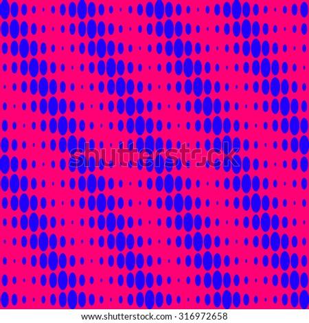Pink sixties op-art pattern - stock vector