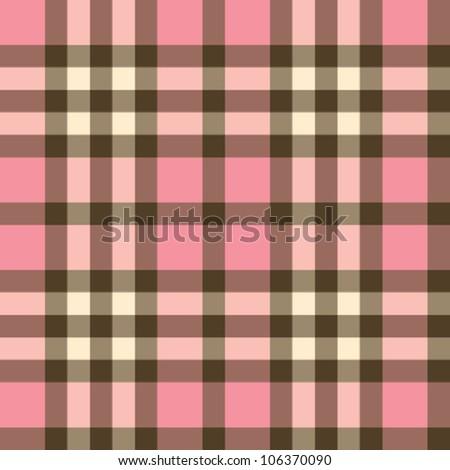pink tartan - stock vector