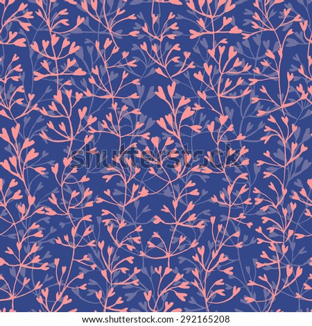 Pink threads on a blue background - stock vector