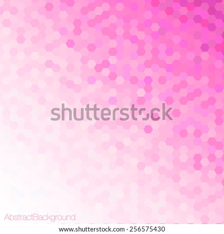 Pink Tones Hexagonal Honeycomb Abstract Background - Vector EPS10  - stock vector