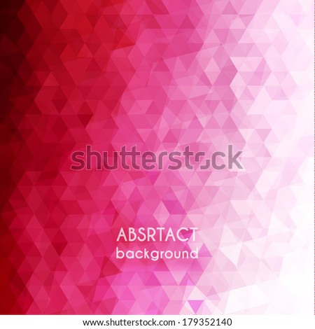 Pink triangles background - stock vector