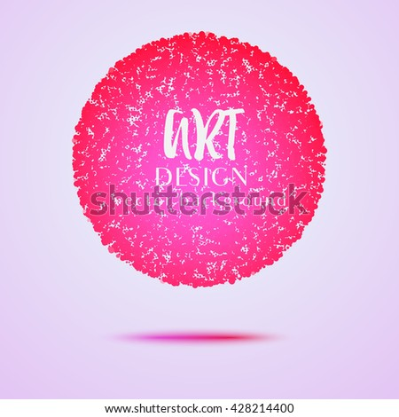 Pink vector dotted background. Design element for graphic design, party flyers, brochure design, business presentation, post cards, book covers. Vector Illustration.  - stock vector