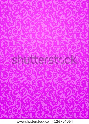Pink vector pattern for wrapping paper or feminine background - stock vector