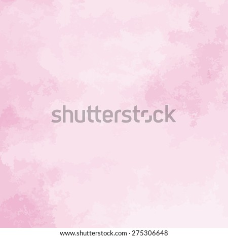 pink watercolor texture background, hand painted vector illustration - stock vector