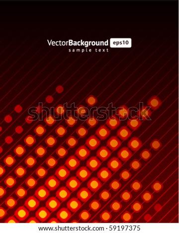 Pink waveform vector background - stock vector